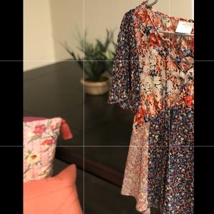 Anthropologie HD in Paris Floral blouse size 2